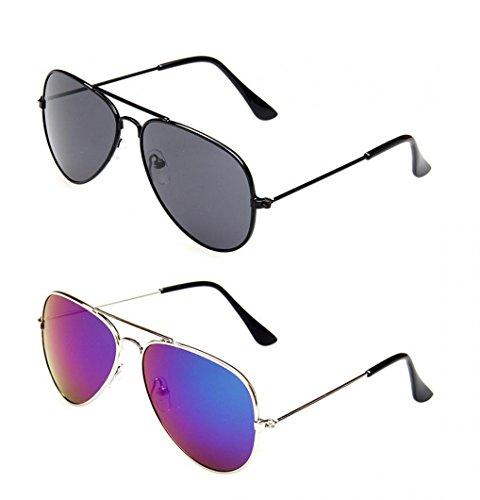 - WODISON Kids Classic Aviator Sunglasses Metal Frame Children Eyeglass UV Protection Eyewear Glasses 4 Packs