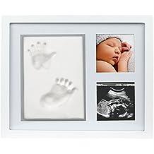 Pearhead Babyprints Newborn Baby Handprint and Footprint Photo Frame Kit (Clay)