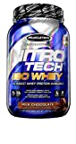 MuscleTech NitroTech Iso Whey Isolate Protein Powder, 25g of Whey Protein Per Scoop - The Purest Whey Protein Formula Available - Milk Chocolate, 27 Servings, 28.8 oz