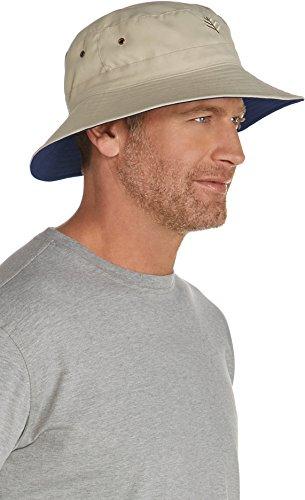 66a0af9cb9e4b Coolibar UPF 50+ Men s Reversible Bucket Hat - Sun Protective (XXL- Tan