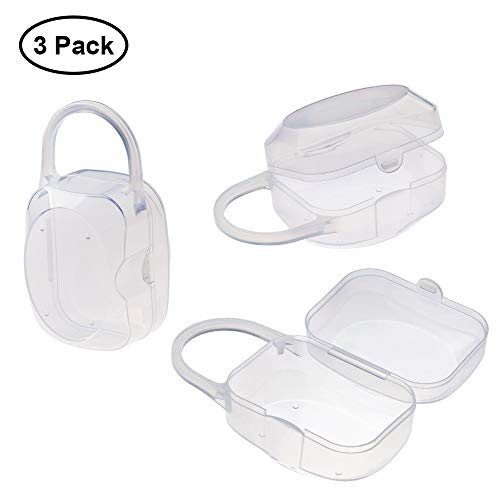 Accmor Baby Pacifier Case,Pacifier Holder, Nipple Shield Case, Pacifier Box for Travel, BPA Free, 3 Pack from accmor