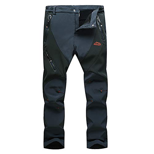Kolongvangie Men's Sports Fitness Breathable Outdoor Hiking Stretch Joggers Pants Grey Black Army ()
