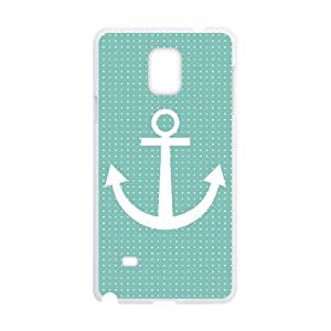 Samsung Galaxy Note 4 Cell Phone Case White Anchor Pattern 005 Special gift AJ8P6914