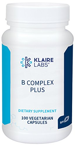 Klaire Labs B Complex Plus – High Potency B Vitamins with Metafolin Folate & Methylcobalamin, 100 Capsules