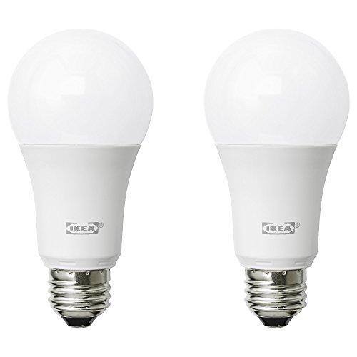 ikea ryet led bulbs e26 a19 2700k warm soft white - pack of 2 (1000 lumen - 11.5 watts)