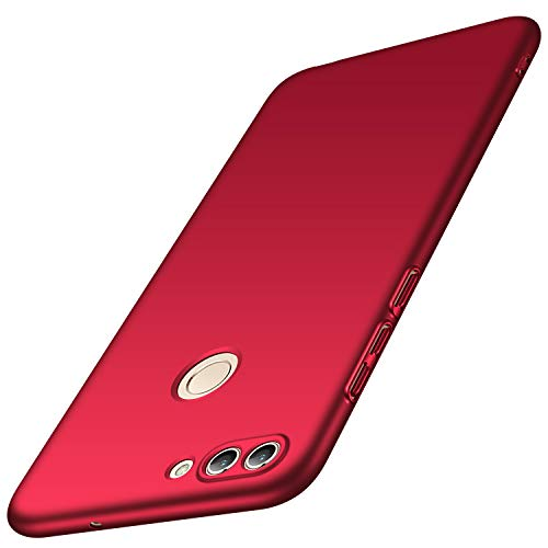 Anccer Compatible for Huawei P Smart Case, Huawei Enjoy 7S Case [Colorful Series] [Ultra-Thin Fit] Premium Material Slim Cover for Huawei P Smart (Red)