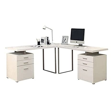 Atlin Designs 3 Piece 48u0026quot; L Shaped Home Office Desk Set ...
