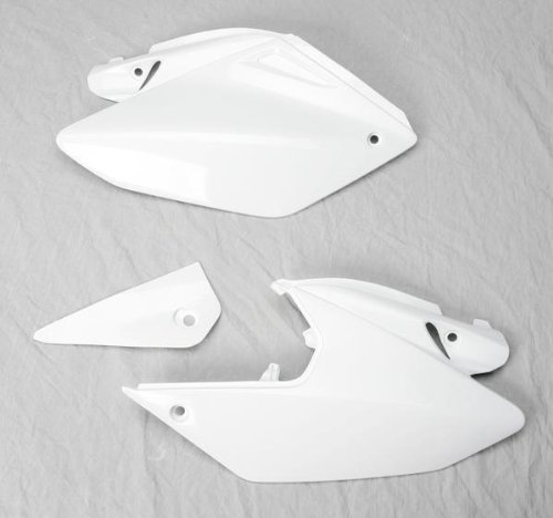 Ufo Side Panels - UFO HO03647-041 Replacement Plastic (FOR HONDA PANEL SIDE CRF250X WHITE)