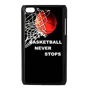 Fashion basketball never stops Personalized ipod touch 4 Case Cover
