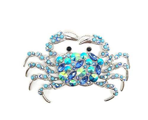 AZfasci Brooch carp Frog Octopus Crocodile Rhinestone Enamel Stylish Elegant Gift Brooch Corsage (Crab Brooch)