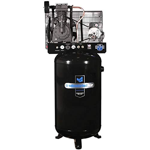 Industrial Air IV5048055 Vertical 80 gallon Two Stage Cast Iron Industrial Air Compressor For Sale