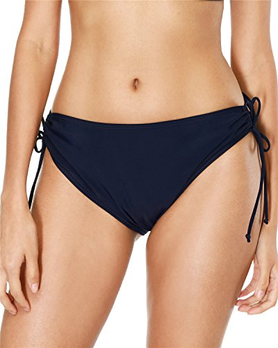 - maysoul Womens Tide Side Bikini Bottoms Sexy Swim Bottom Swimwear Briefs Navy Small