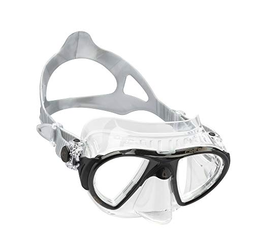 Cressi Adult High-End Scuba Diving Mask, Made in the Revolutionary Crystal Silicone - Big Eyes Evolution Crystal: Made in Italy