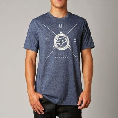 Fox Racing Mens Metal Martyr Premium Short-Sleeve Shirts, Navy, 2X-Large