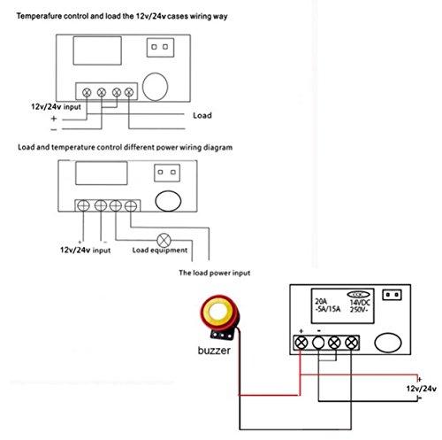 Termostato Electrónico Ajustable con Sensor de NTC Controlador de Temperatura con Pantalla Digital (12V): Amazon.es: Industria, empresas y ciencia