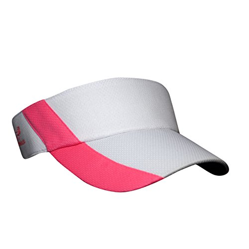 - Headsweats adult Ultralite Visor, White/Pink, One Size
