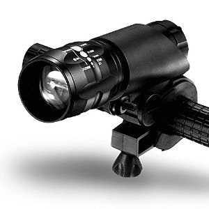 EssentialsPlus®: LED Bike Light with 500 foot visibility Includes a Free Red Taillight (bundle)