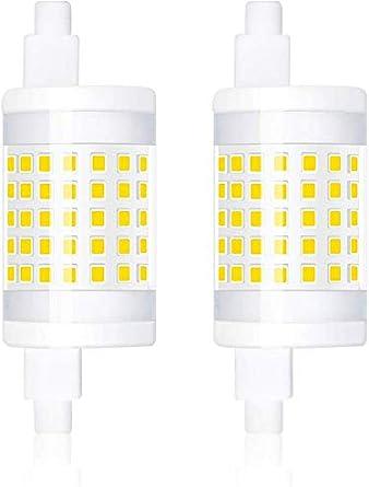 2 x R7s sécurité J78 PIR Flood Ampoule Remplacement 9 W Energy Saving ampoule 78 mm