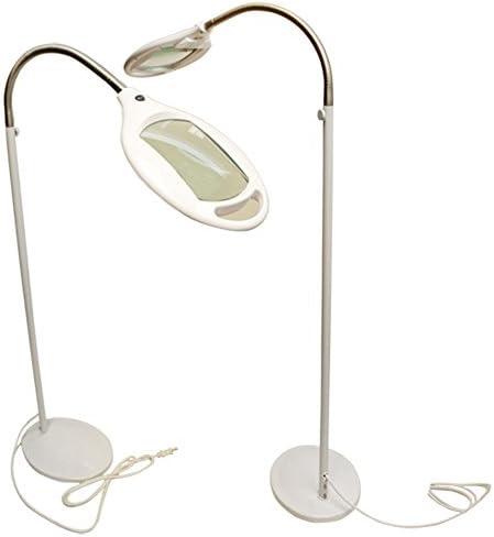 Reading Magnifying Magnifier Lamp Floor Light Flexible Gooseneck White 3 Diopter