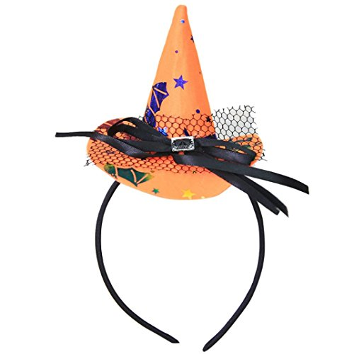 2017 Halloween Women Girls Spider Ghost Witch Hat Headband Cap Headwear Party Props Accessory (2017 Toddler Girl Halloween Costumes)