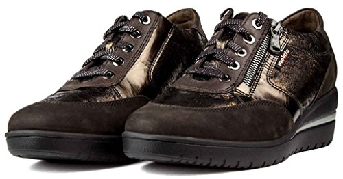 Mephisto Mobils by Patrizia Sneakers Donna Stringate con Plantari in Sughero Buck.6951/14717/7851/30051 Dark Brown EU 5.5 ITA 38,5 USA 8 cm 24,5