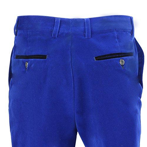 3 Blue Gilet nbsp;tuta Trouser Separatamente Pantaloni Velluto royal Venduto Uomo Marrone Xposed Vintage Giacca HIgTxq