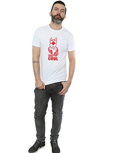 Scooby de Doo Camiseta Absolute Man Crazy blanca Cool Cult wSqxAqX