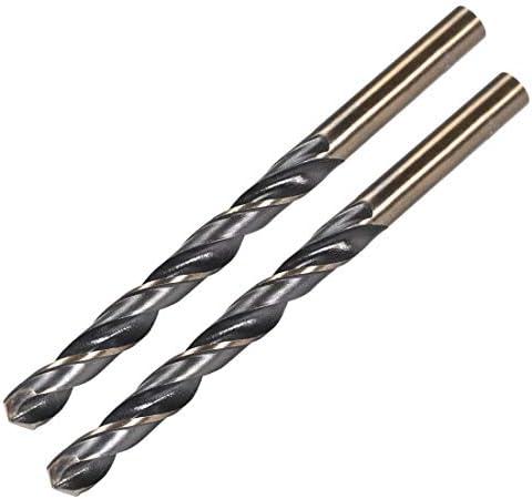 uxcell 1//2 inches Straight Shank 14.5mm Split Point Tip HSS High Speed Steel Twist Drill Bit
