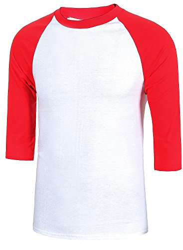 MIEDEON Men's Casual 3/4 Sleeve Baseball Tshirt Raglan Jersey Shirt