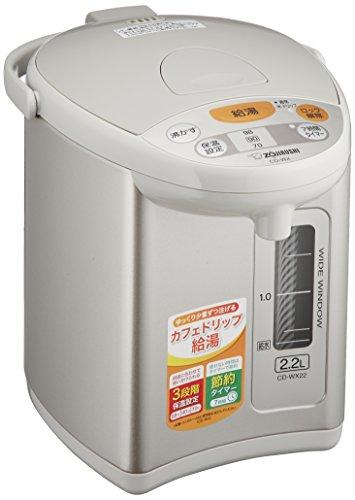 ZOJIRUSHI Automatic Hot Water Dispenser 2.2L Gray CD-WX22-HA by Zojirushi