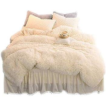 Amazon Com Sleepwish Cream Faux Fur Bedding Luxury Plush