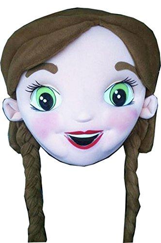 Frozen Princess Anna Mascot Costume Head Adult Costume