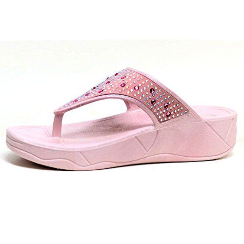 Orteil Wedge Fit Chaussures Tong Femmes Sandales Taille Post Dunlop Cristal 3 Faible CwXqxaS