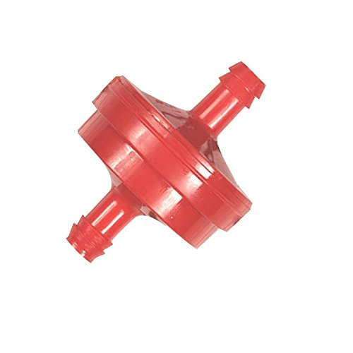 Homelite/Ryobi 308733008 Fuel Filter (Red) Inline 1/4 W/1 For Blackmax Powerstroke Ryobi and Homelite Generators