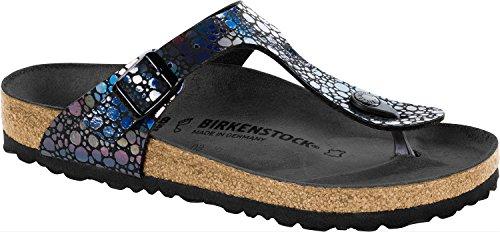 Birkenstock Women's Gizeh Metallic Sandals Black in Size US 6-6.5 Regular