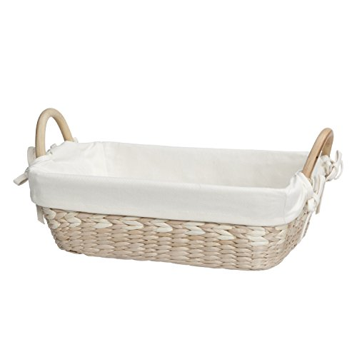 Natural Maize Storage Basket (Creative Bath Vanity Basket With Liner, Natural/Bleach)