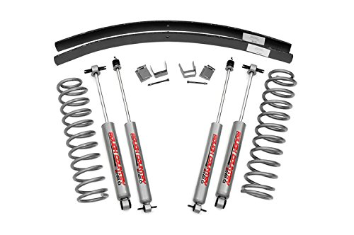 2 - 3-inch Suspension Lift Kit w/ Premium N2.0 Shocks for Jeep: 84-01 Cherokee XJ 4WD (Rough Country 3 Lift)