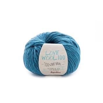 Katia Love Wool 100 Pelote de Laine Alpaga pour Tricoter et Crochet pour  Aiguilles 7- 7c939560def