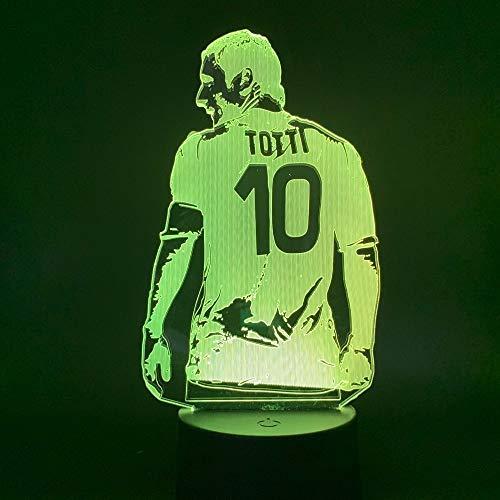 Vista Trasera de la luz Nocturna de futbol Jugador de futbol Sala de Oficina Regalo de decoracion para Novio lampara de Escritorio para