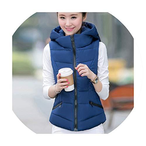 Puissant fishing-vests Women Cotton Vest Down Soft Warm Waistcoat Female Outwear Brand Vest Coat,Navy Blue,XL (Patagonia Womens Classic Retro X Fleece Jacket)
