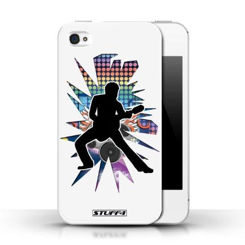 Etui / Coque pour Apple iPhone 4/4S / étendre Blanc conception / Collection de Rock Star Pose