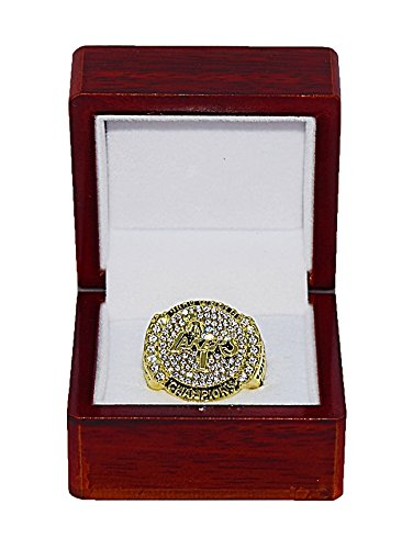 LOS ANGELES LAKERS (Kobe Bryant) 2009 NBA FINALS WORLD CHAMPIONS Rare & Collectible Replica National Basketball Association Gold NBA Championship Ring with Cherrywood Display Box