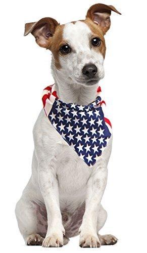 American Flag Dog Bandana - USA Dog Bandana - American Flag Bandana - Patriotic Flag - for All Dogs (Large)