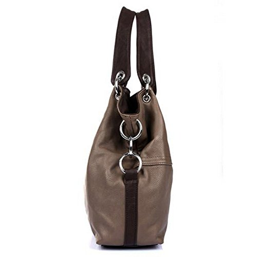 Eysee - Bolso de tela para mujer marrón verde 33cm*32cm*11cm marrón