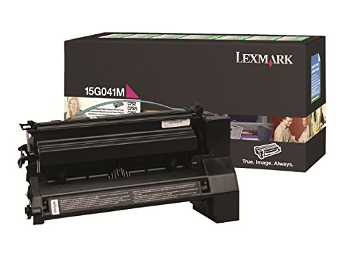 Lexmark Magenta Return Program Toner Cartridge, 6000 Yield (15G041M)