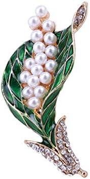 植物 ブローチ パール ブローチ 花 木 葉 美しいブローチ 人気 グレース ファッション 卒業式 結婚式 プレゼント (style7)