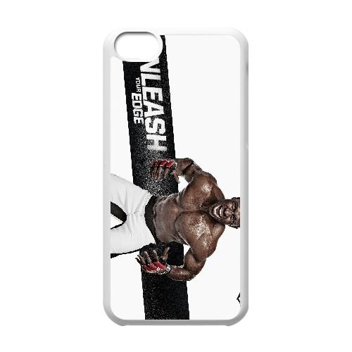 S6L75 Reggie Bush X2I9WS cas d'coque iPhone de téléphone cellulaire 5c couvercle coque blanche DB3HEO7LC