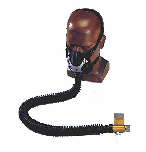 MSA Safety 480474 Constant Flow Air-Line Respirator Complete Assembly with Comfo Facepiece and Foster Steel Fitting