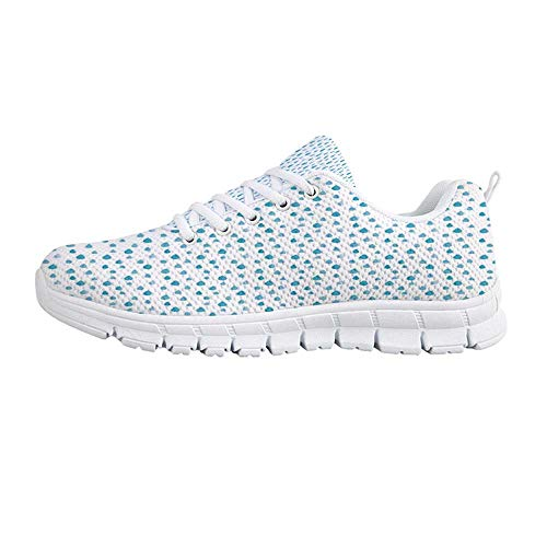 - Farmhouse Decor Comfortable Sports Shoes,Watercolor Drip Drops Pattern in Various Sizes Terrain Humidity Zone Sign for Men & Boys,US Size 7