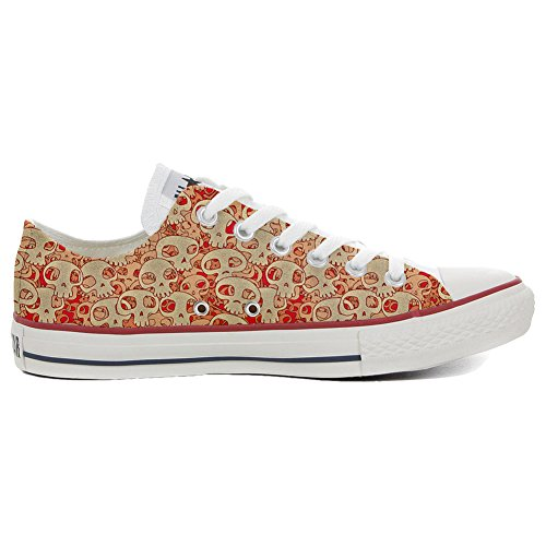 personalizados Orange Skull HANDMADE Converse All zapatos Unisex Producto Star Sxq6qwZv